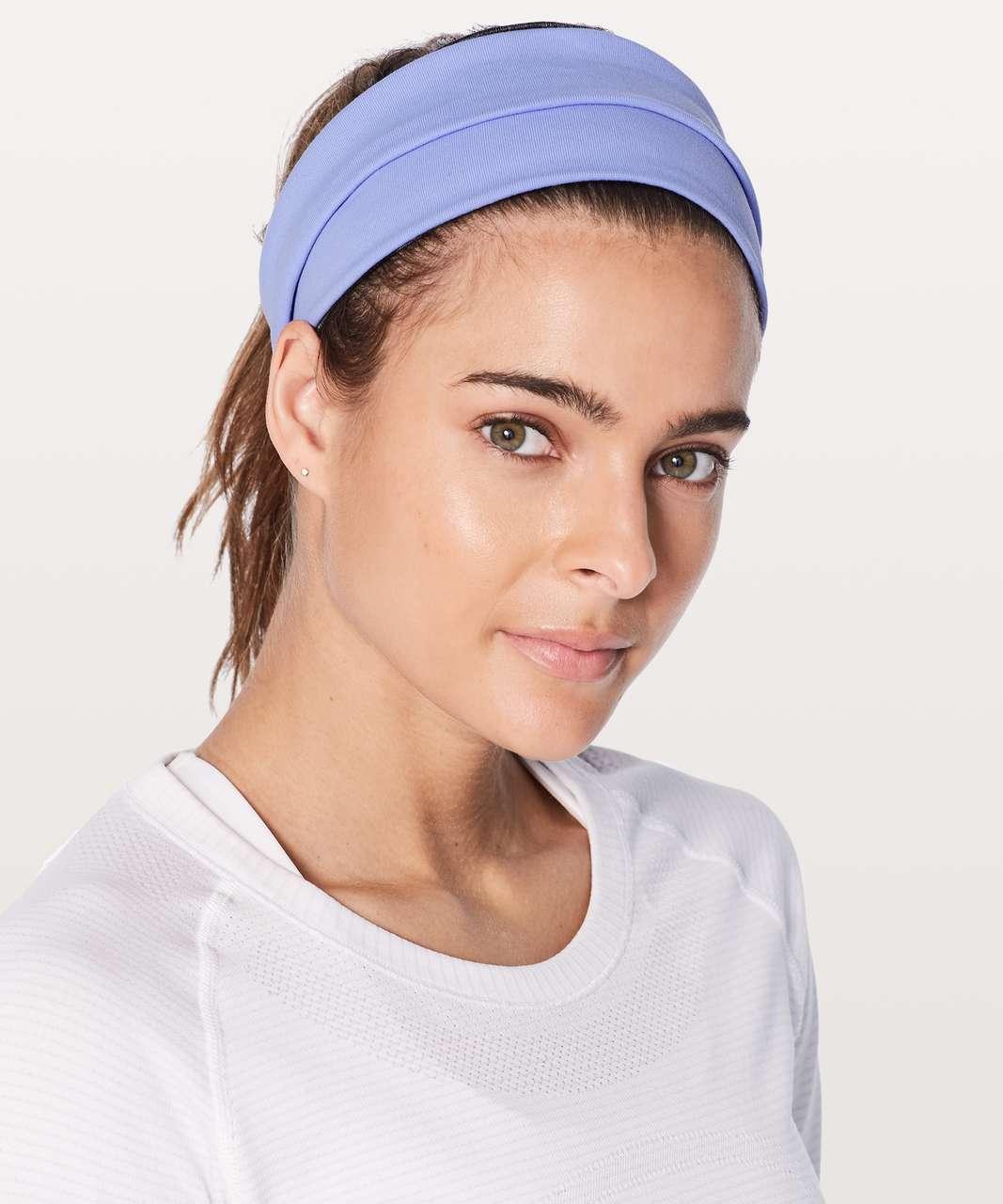 Lululemon Fringe Fighter Headband - Hydrangea Blue / Heathered Black