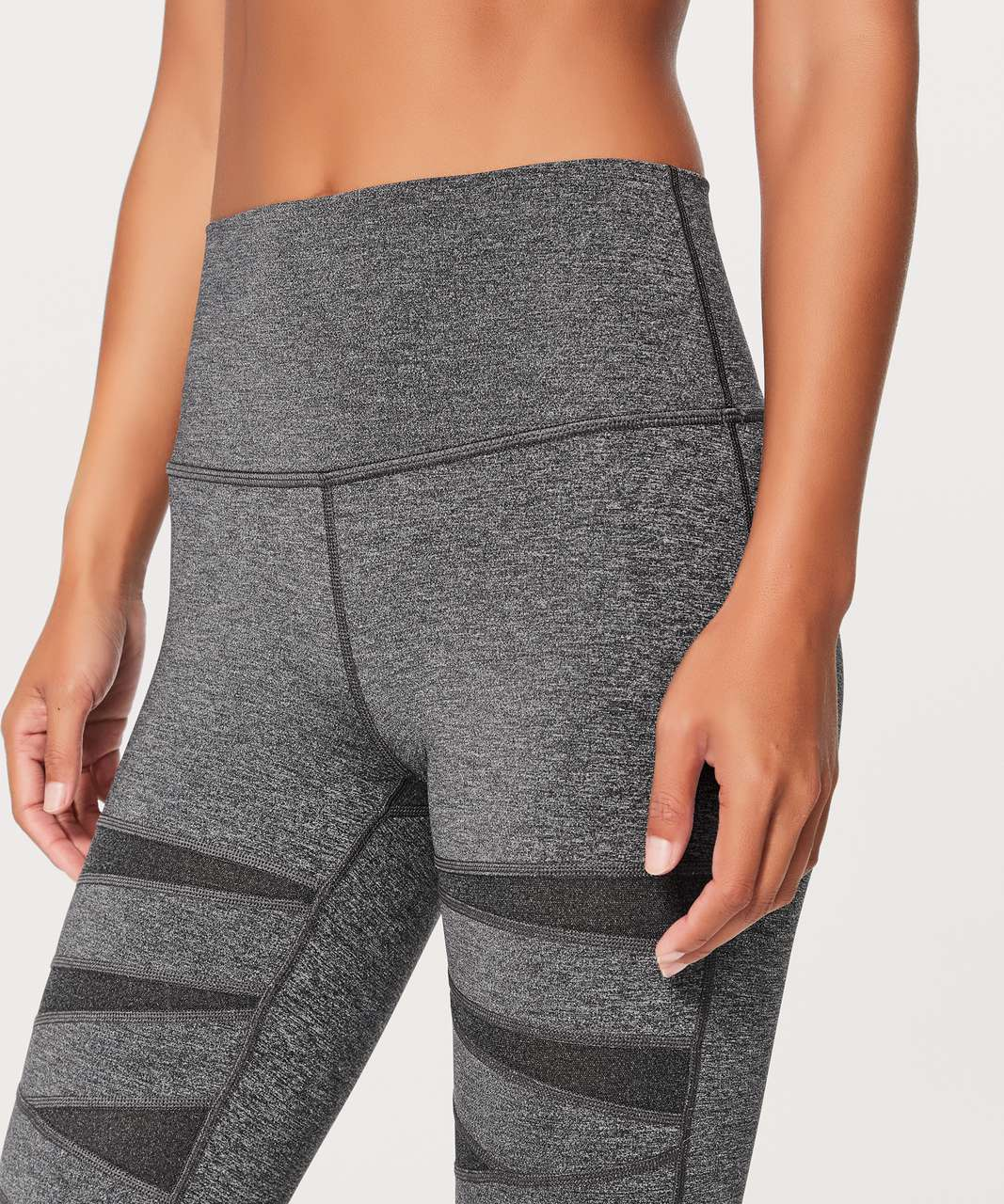 "Lululemon Wunder Under Pant (Hi-Rise) *Special Edition Tech Mesh 28"" - Heathered Black"