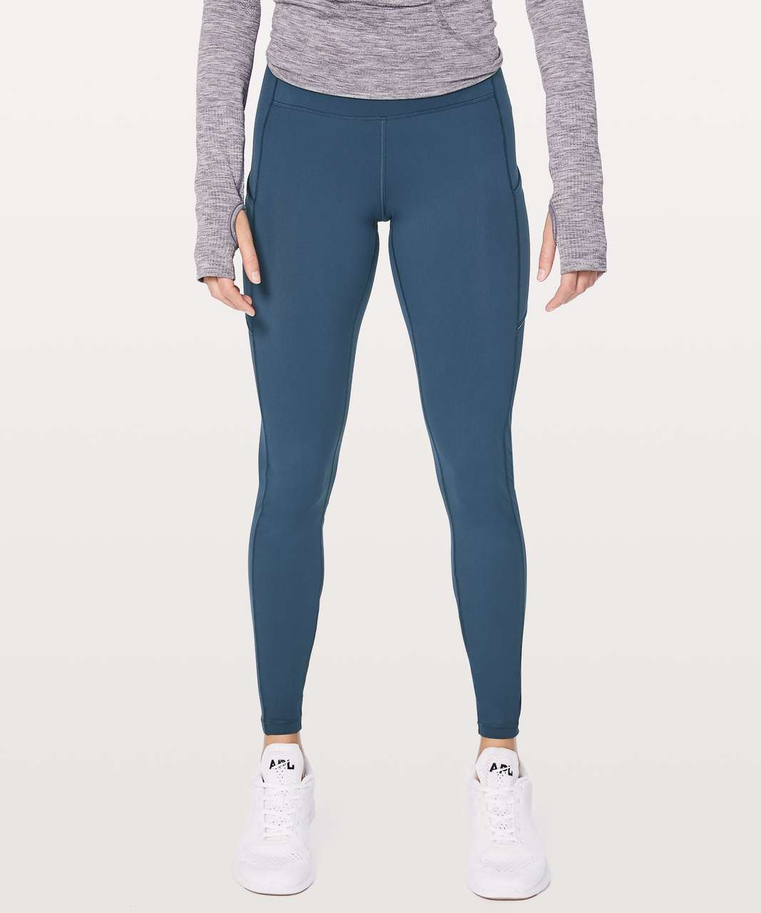 "Lululemon Speed Up Tight Warp Tech Fleece 28"" - Mineral Blue"