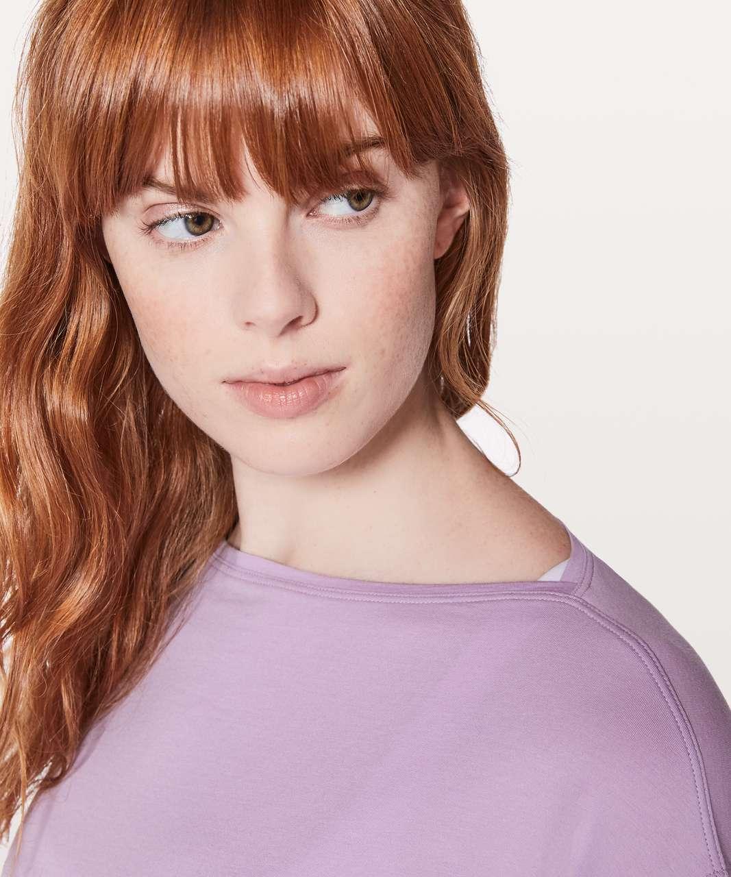 Lululemon Back In Action Long Sleeve - Lilac Quartz