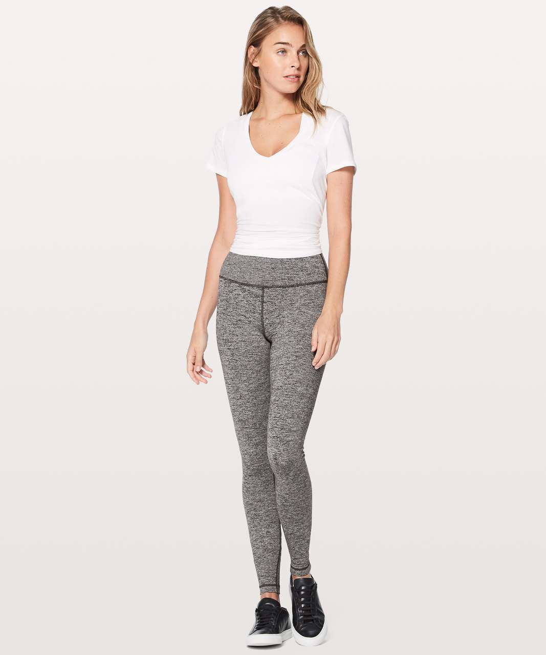"Lululemon Wunder Under Hi-Rise Tight (Tall) 31"" - Heathered Black"