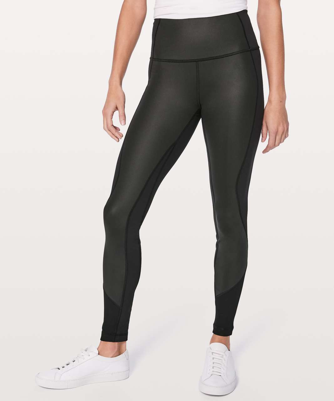 "Lululemon Wunder Under Hi-Rise Tight (Sheen) *Full-On Luxtreme *28"" - Black"