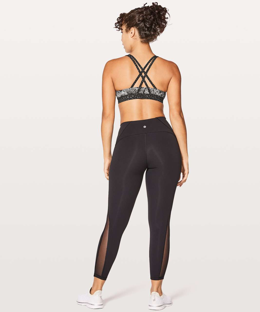 Lululemon Energy Bra - Overlace Energy Bra Ice Grey Black
