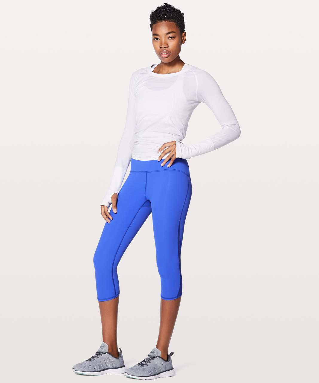 "Lululemon Train Times Crop 17"" - Blazer Blue"