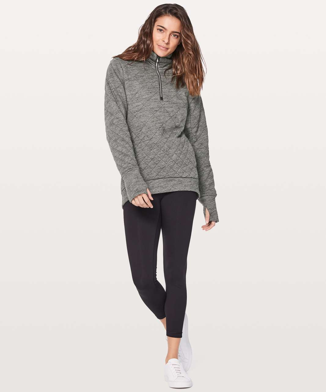 huge selection of 9019c f0fd7 Lululemon Forever Warm Pullover - Heathered Core Dark Grey