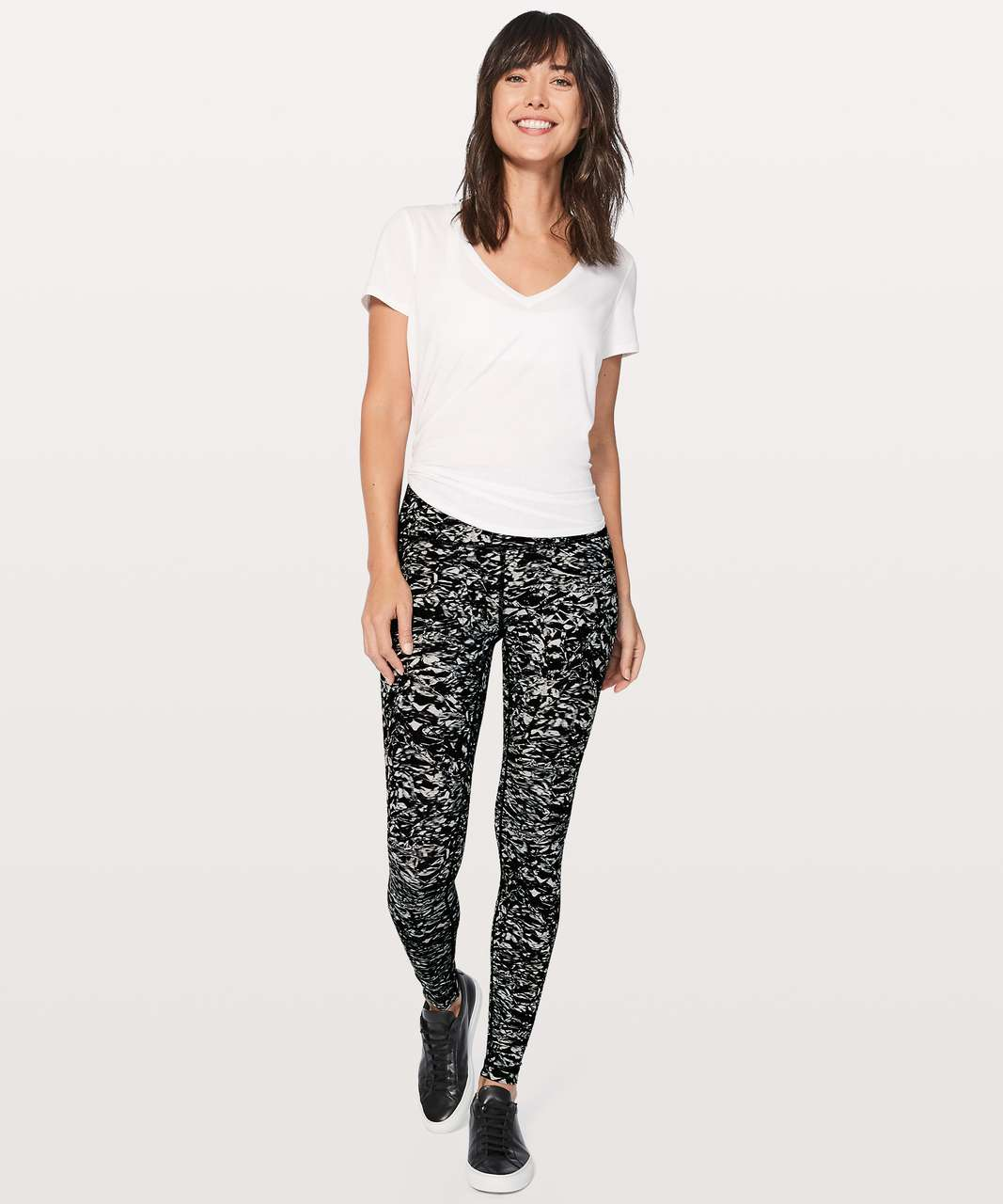 "Lululemon Wunder Under Hi-Rise Tight 28"" - Liquid Platinum Alpine White Multi"
