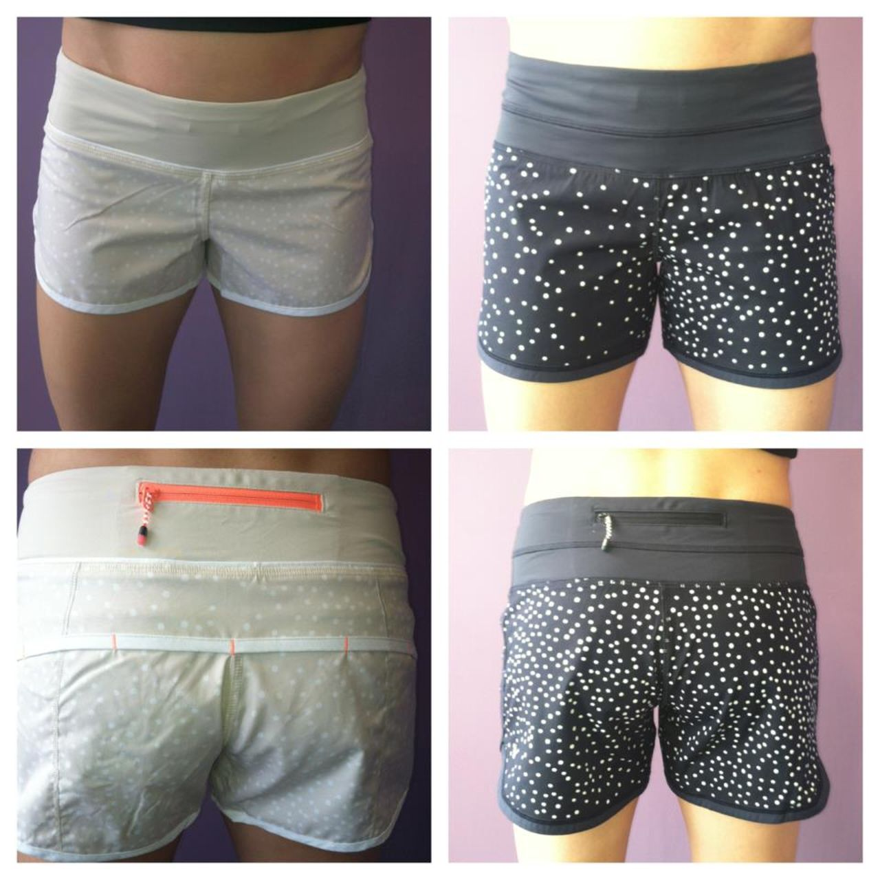Lululemon Run:  Speed Short - Petit Dot Dune / White