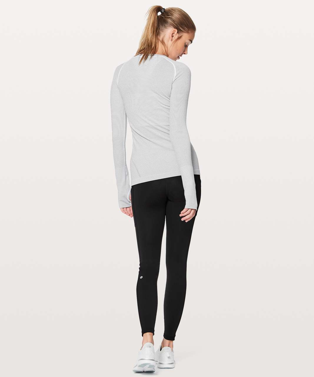 Lululemon Swiftly Tech Long Sleeve Crew - White / White / Black