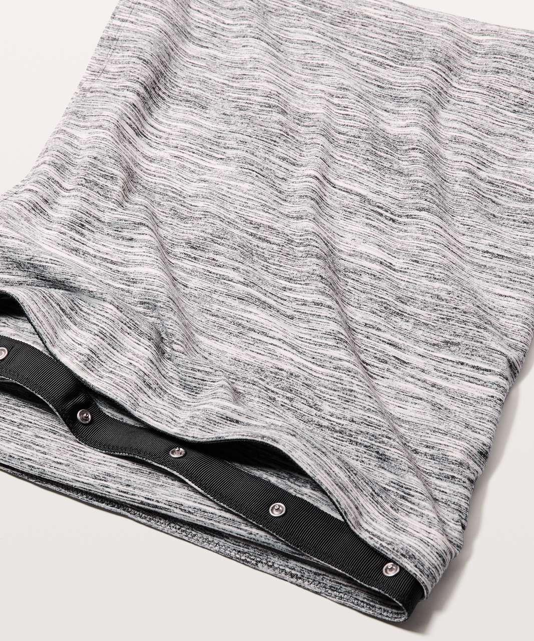 Lululemon Vinyasa Scarf *Rulu - Space Dye Camo Black White
