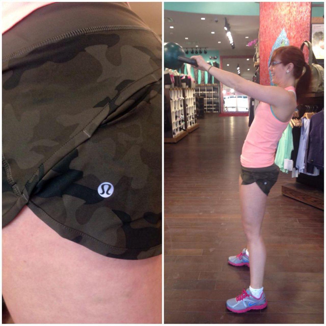 Lululemon Run:  Speed Short *4-way Stretch - Savasana Camo 20cm Fatigue Green / Fatigue Green