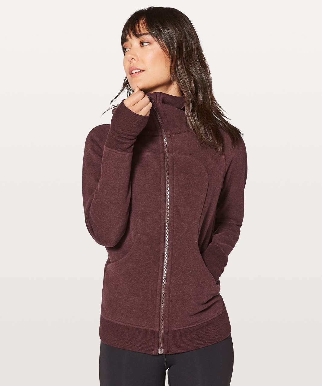 Lululemon Scuba Hoodie *Classic Cotton Fleece - Heathered Bordeaux Drama / Bordeaux Drama