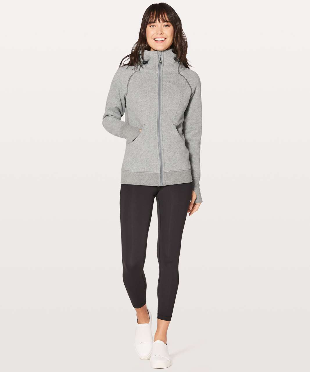 Lululemon Scuba Hoodie *Classic Cotton Fleece - Heathered Speckled Medium Grey / Battleship