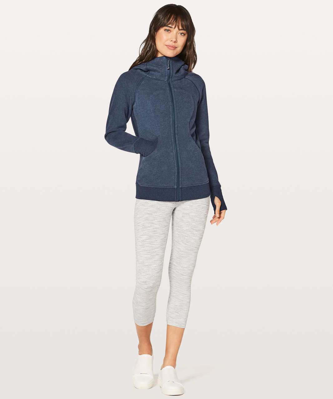 Lululemon Scuba Hoodie *Classic Cotton Fleece - Heathered Deep Navy / Deep Navy