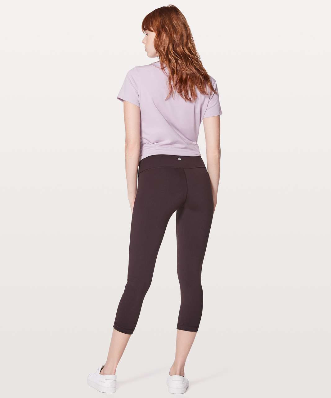 "Lululemon Wunder Under Crop III *Full-On Luon 21"" - Black Cherry"