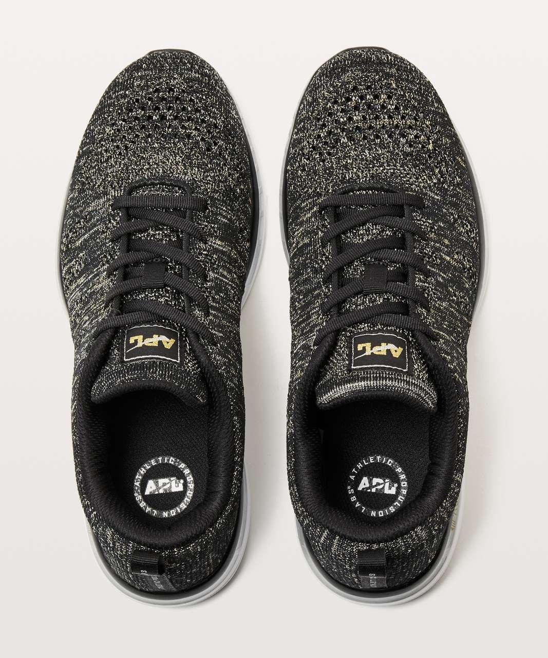 28a1843d0 Lululemon Womens TechLoom Pro Shoe *Metallic - Black / Gold / Silver - lulu  fanatics
