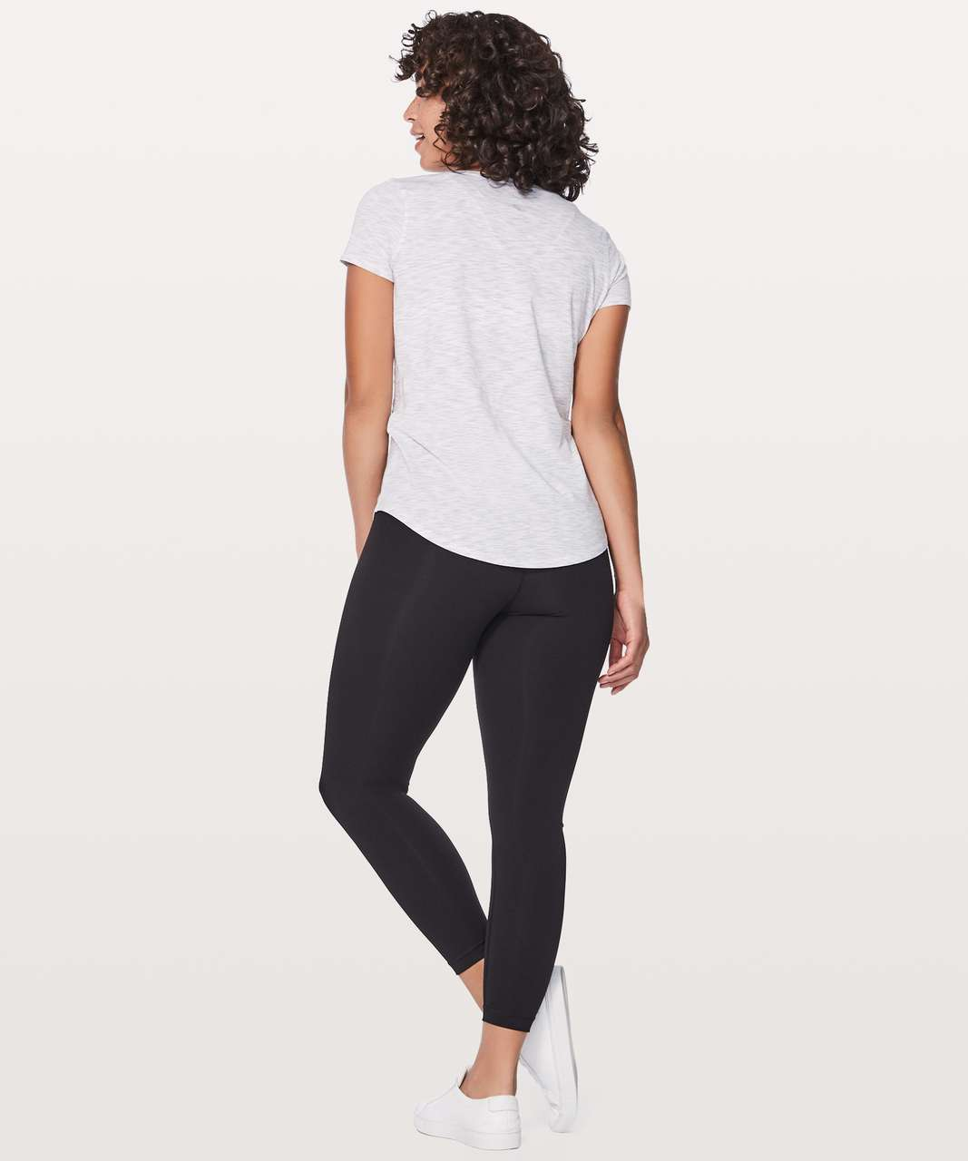 Lululemon Love Tee V - 3 Colour Space Dye Ice Grey Alpine White (First Release)