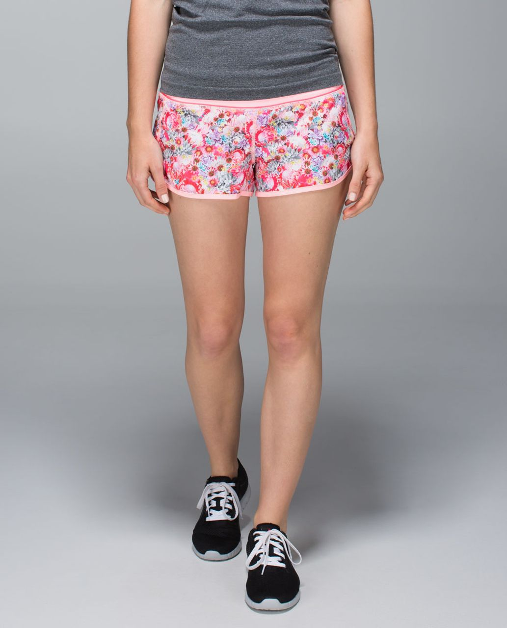 Lululemon Run:  Speed Short *2-way Stretch - Flowabunga Mini Multi / Bleached Coral