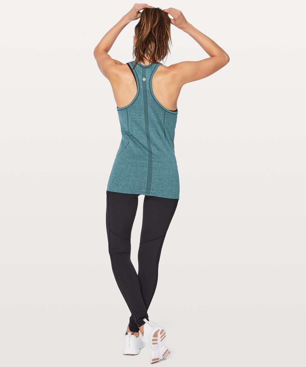 Lululemon Swiftly Tech Racerback - Black / Desert Teal