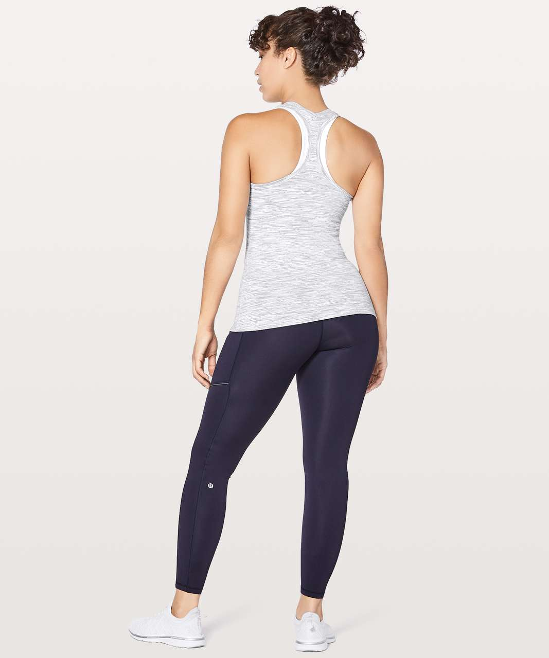 Lululemon Cool Racerback II - Wee Are From Space Ice Grey Alpine White