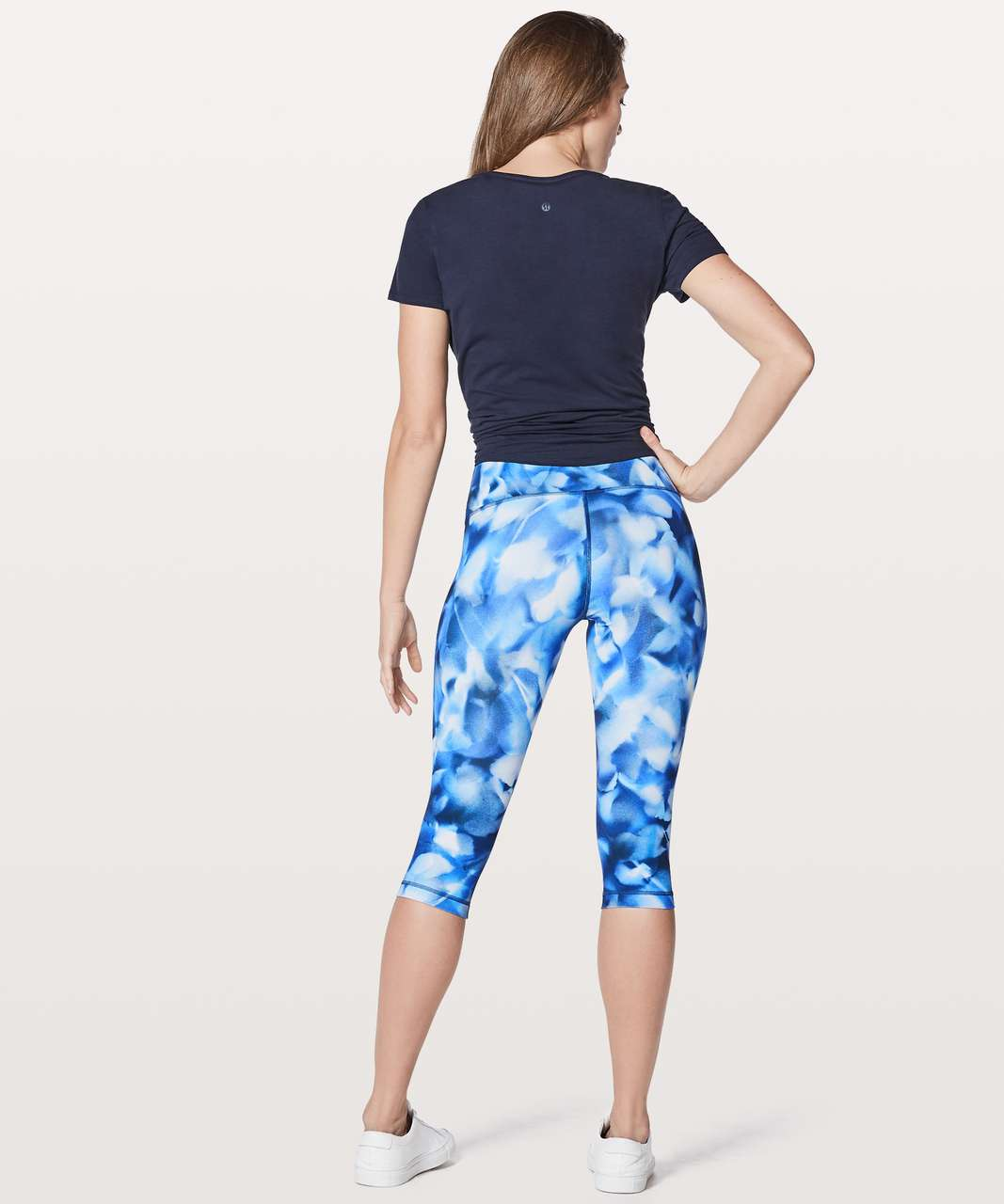 "Lululemon Wunder Under Hi-Rise 1/2 Tight *Full-On Luxtreme 17"" - Blush Blossom Alpine White Midnight Navy"