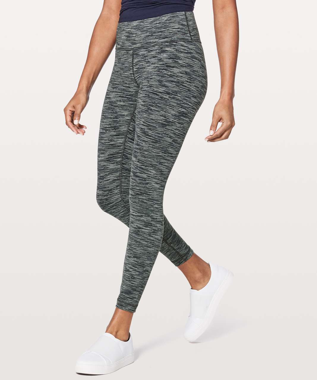 "Lululemon Wunder Under Hi-Rise 7/8 Tight *25"" - Wee Are From Space Black Slate"