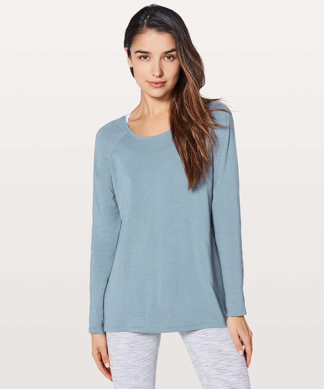Lululemon Emerald Long Sleeve - Blue Denim