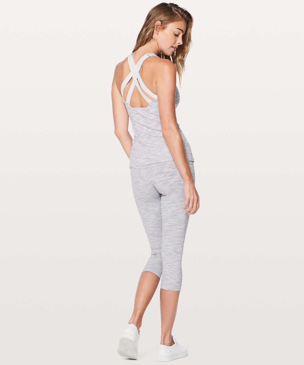 Lululemon Enhearten Tank - Wee Are From Space Ice Grey Alpine White