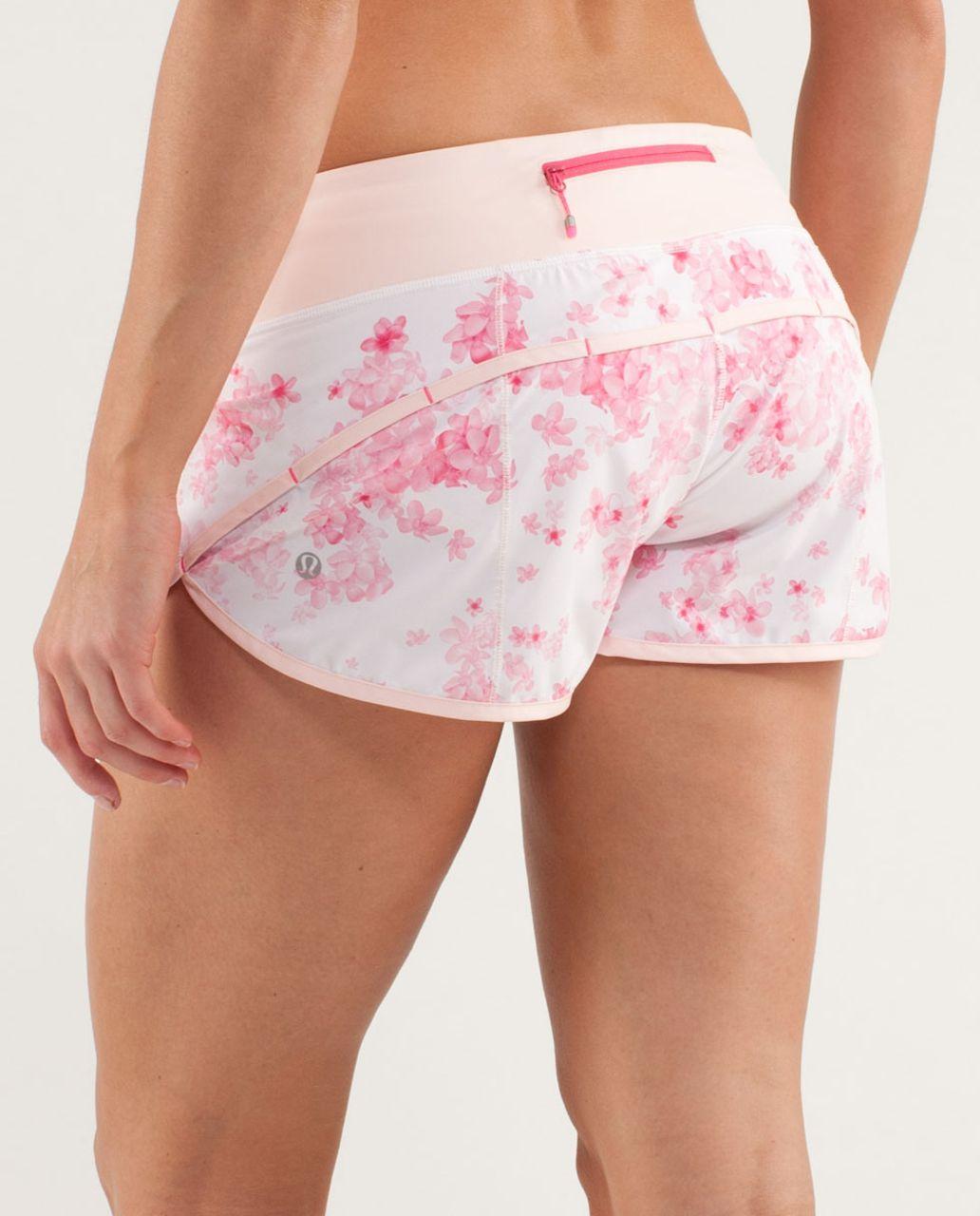 Lululemon Run:  Speed Short - Frangipani Parfait Pink / Parfait Pink