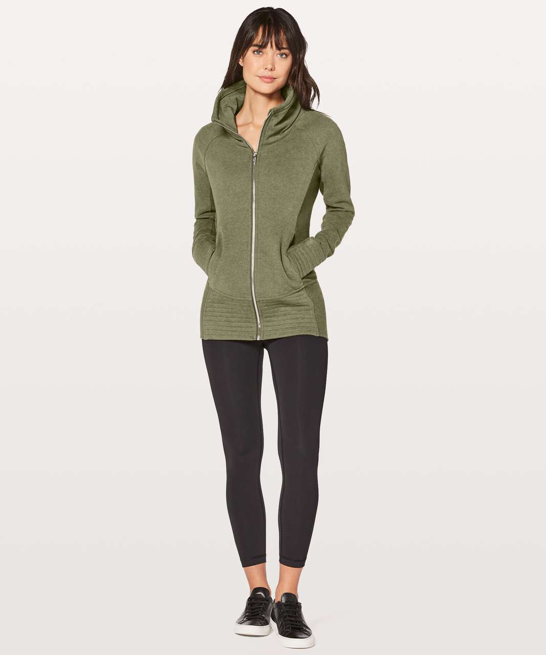 Lululemon Radiant Jacket II - Heathered Fatigue Green