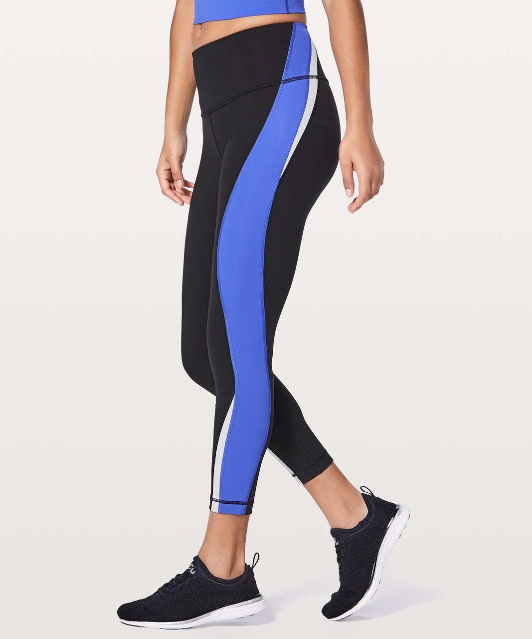"Lululemon Kick Serve Sweat Tight 25"" - Black / Blazer Blue / White"