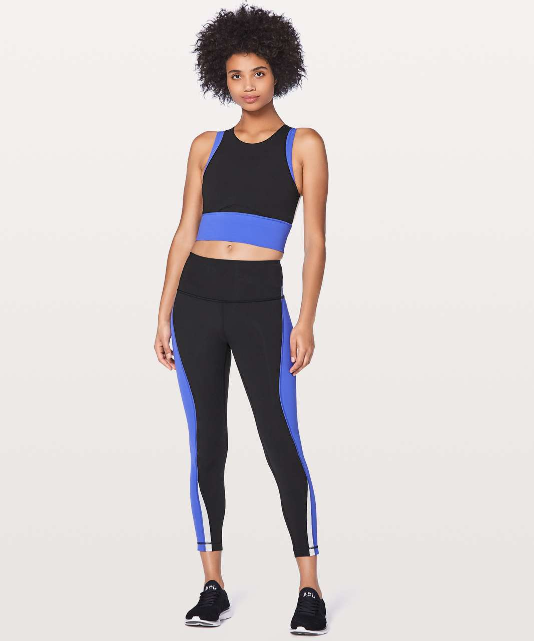 "Lululemon Kick Serve Sweat Tight 25"" - Black / Blazer Blue / White"
