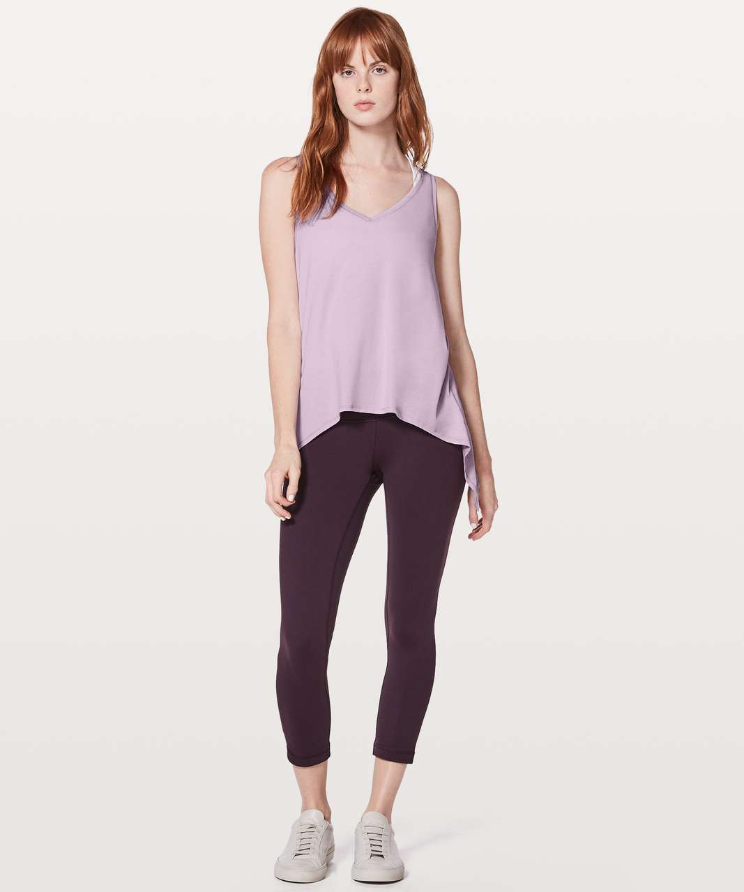 Lululemon Watch Me Flip Tank - Heathered Lilac Quartz