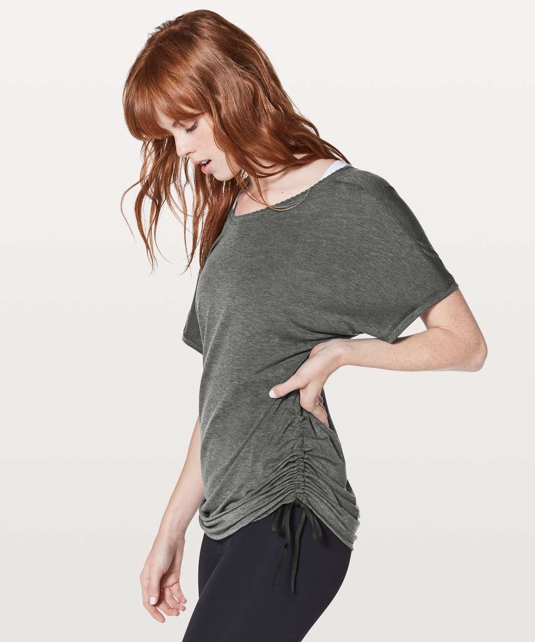 Lululemon Tied To It Tee - Heathered Black