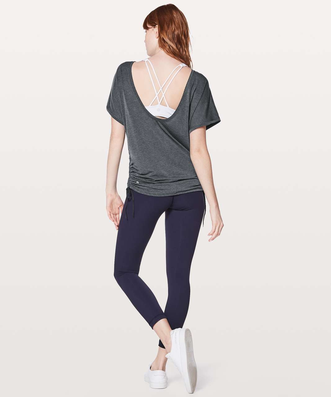 Lululemon Tied To It Tee - Heathered Midnight Navy