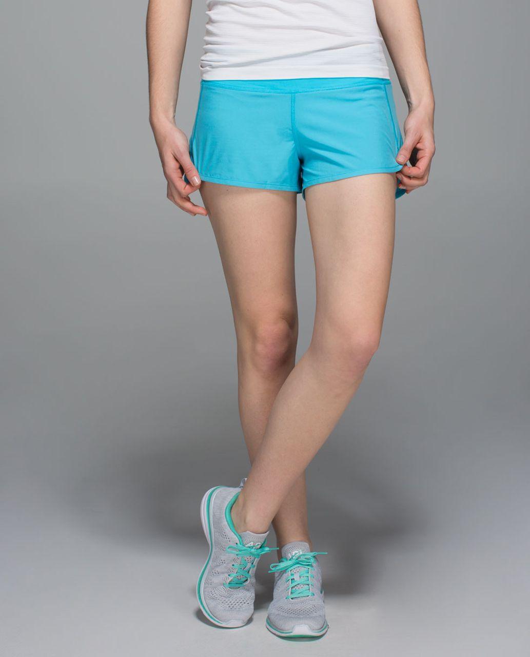 Lululemon Run:  Speed Short *4-way Stretch - Fresco Blue