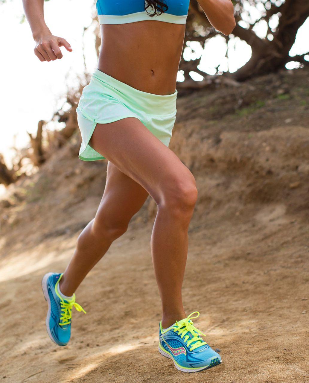 Lululemon Run:  Speed Short - Petit Dot Fresh Teal / Fresh Teal
