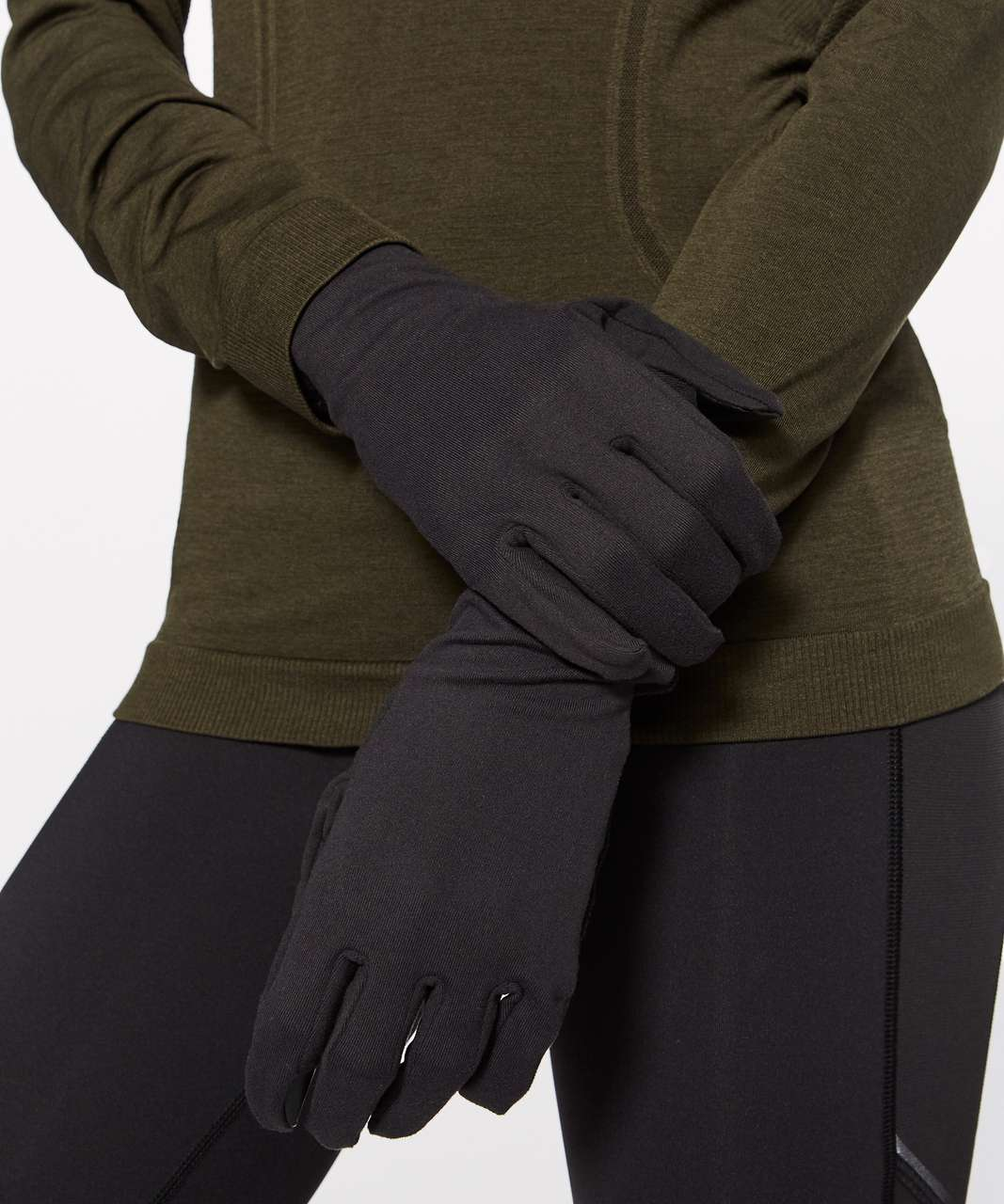 Lululemon Run It Out Kit Gloves + Toque - Black