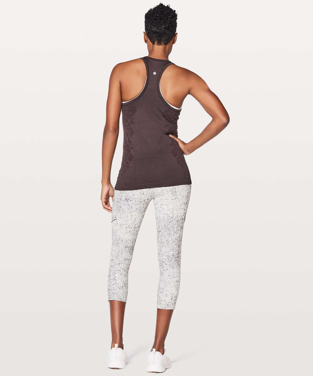 Lululemon Swiftly Tech Racerback - Black Cherry / Black