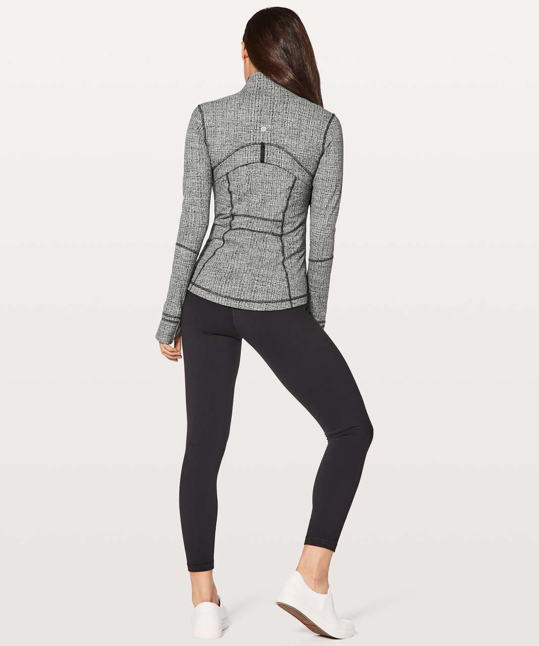 Lululemon Define Jacket - Ritual Jacquard Luon Black White