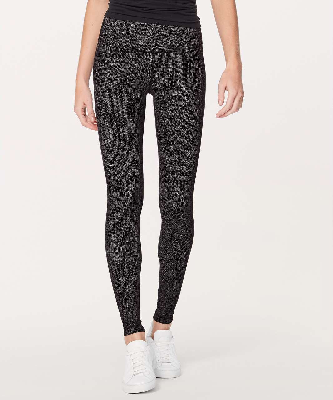 "Lululemon Wunder Under Hi-Rise Tight *28"" - Heathered Herringbone Heathered Black Black"