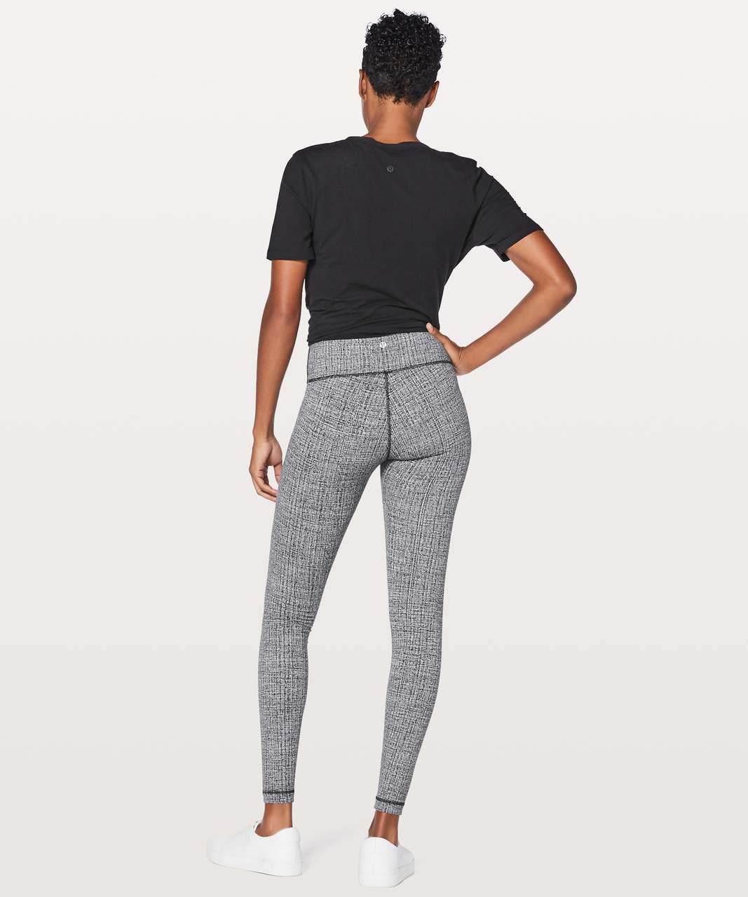 "Lululemon Wunder Under Hi-Rise Tight 28"" - Ritual Jacquard Luon Black White"