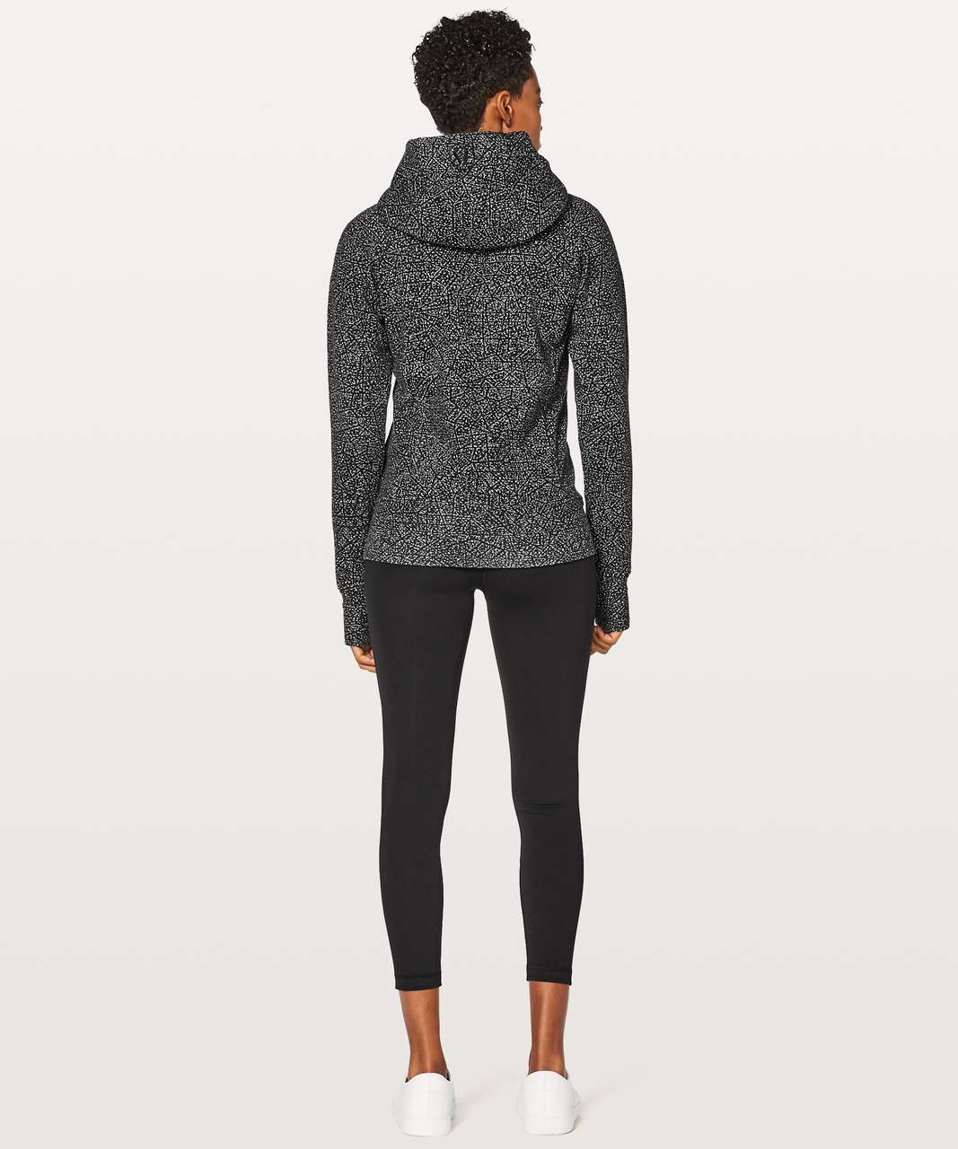 Lululemon Scuba Hoodie Light Cotton Fleece - Night View White Black