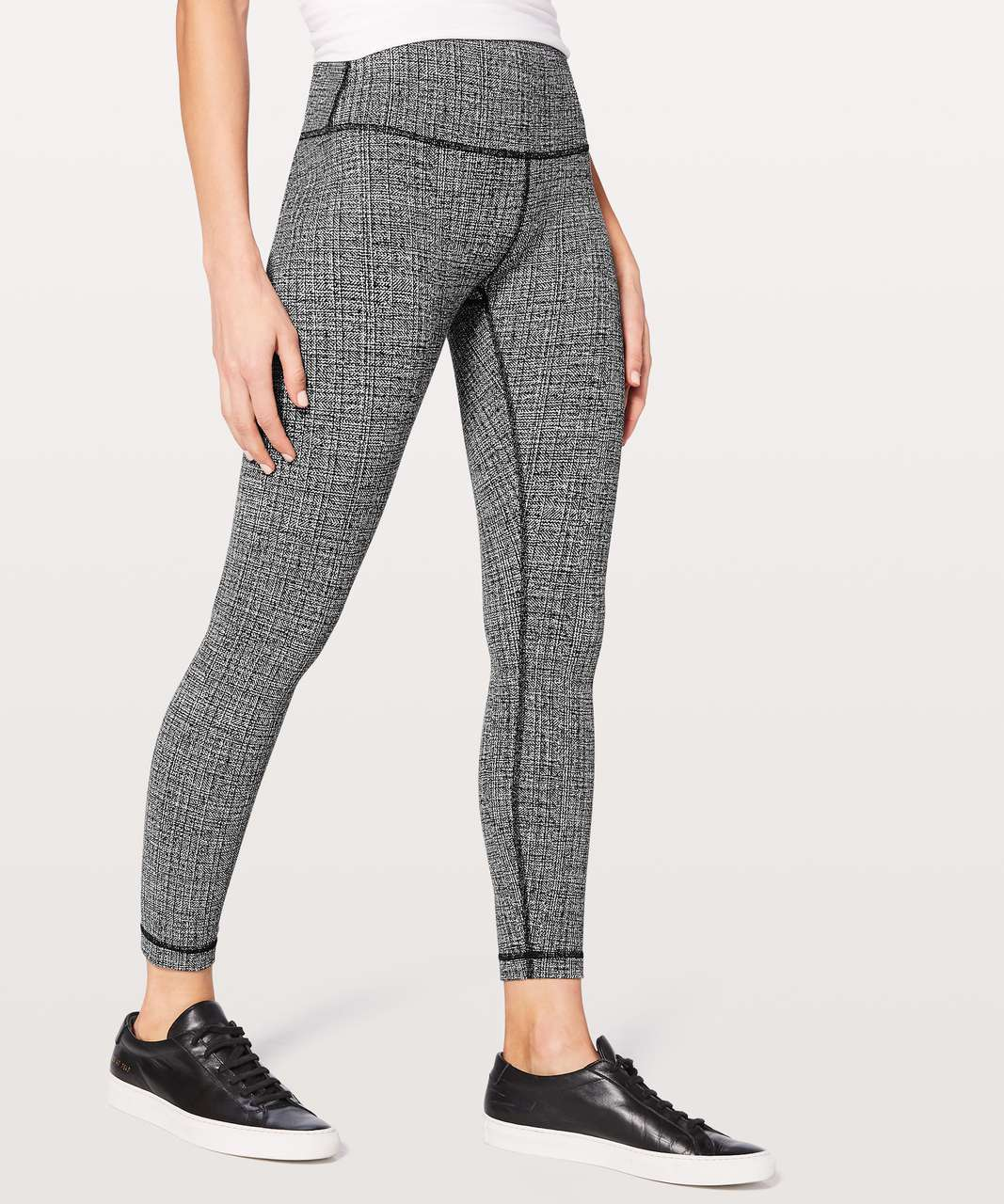 "Lululemon Wunder Under Hi-Rise 7/8 Tight 25"" - Ritual Jacquard Luon Black White"