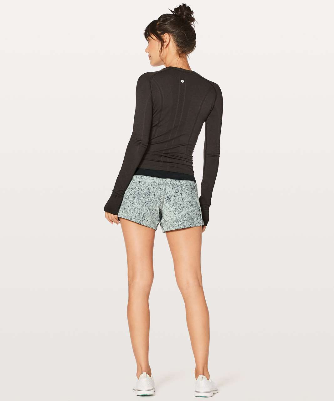 "Lululemon Run Times Short II *4"" - Antiqued Starlight Black / Black"
