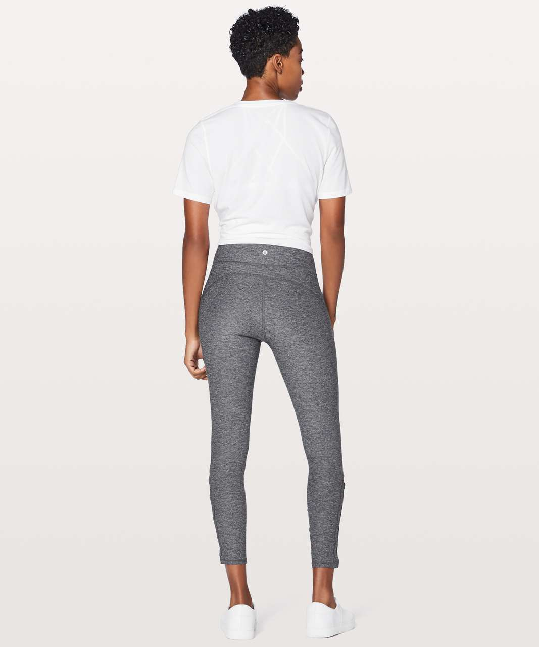 "Lululemon Tied To It 7/8 Tight 25"" - Heathered Black / Dark Carbon"