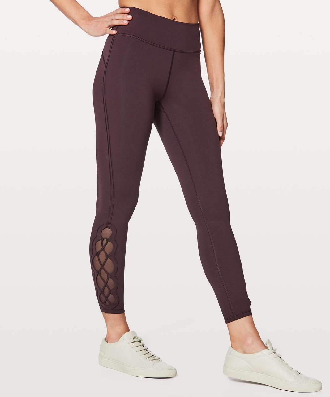"Lululemon Tied To It 7/8 Tight 25"" - Black Cherry"