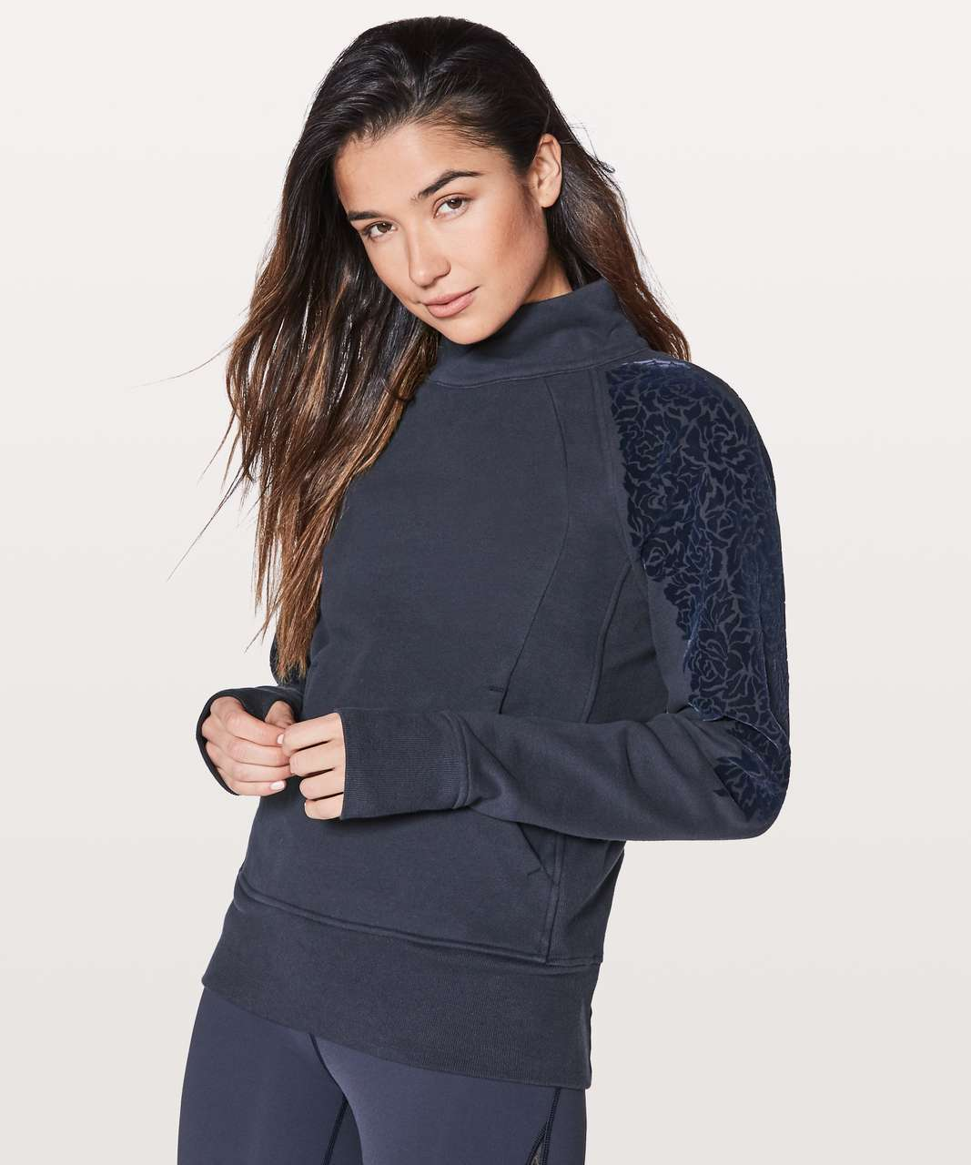 Lululemon Floral Flock Pullover - Midnight Navy