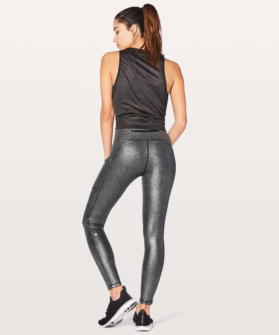 "Lululemon Speed Up Tight *Full-On Luxtreme 28"" - Luminosity Foil Print Black Silver"