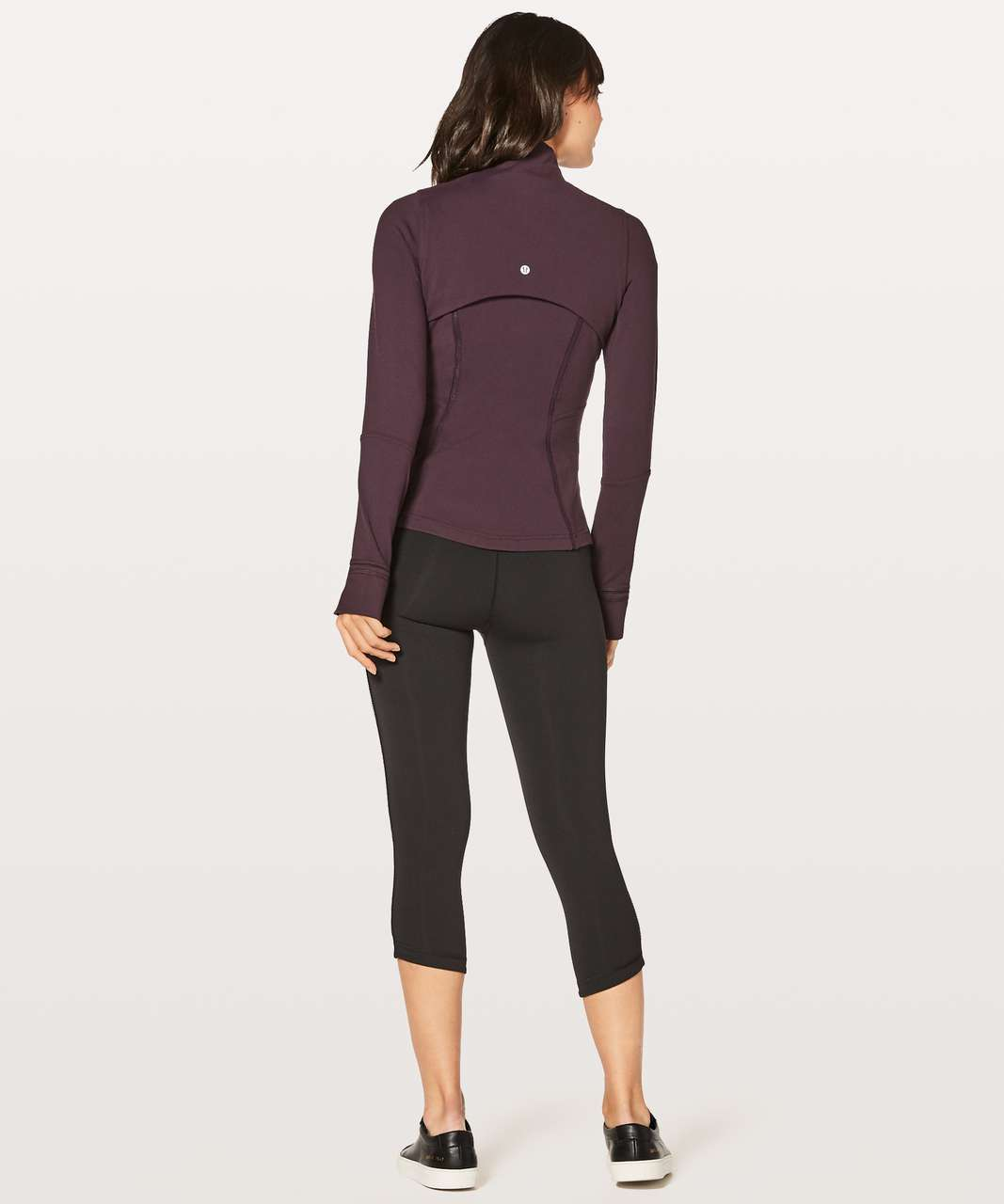 Lululemon Define Jacket Wing Mesh - Black Cherry