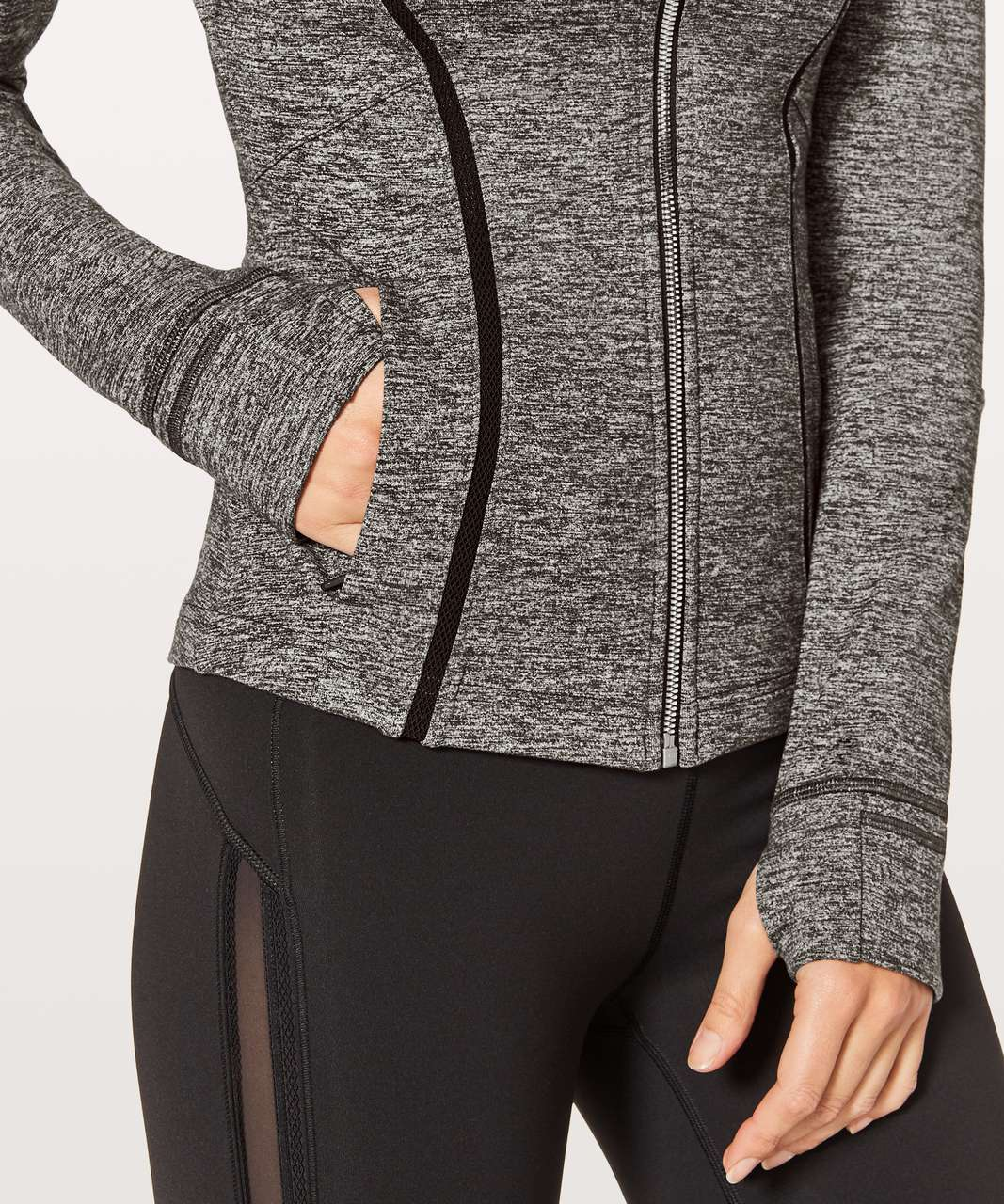 Lululemon Define Jacket Wing Mesh - Heathered Black